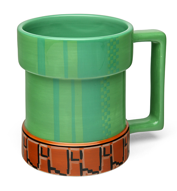 Coffee with this super mario inspired warp mug from thinkgeek the mug